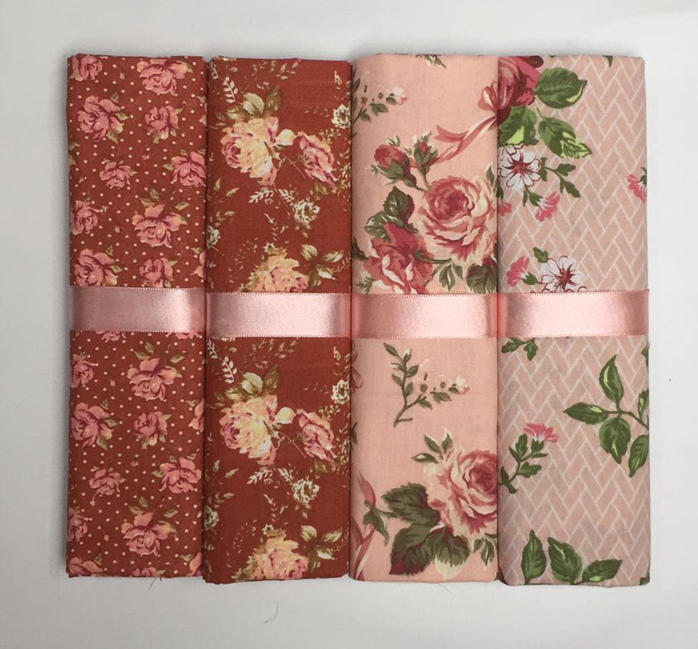 Kit Tricoline Rosas