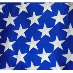 Cetim Estrela Fundo Azul