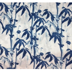 Viscose Floral Bambu Azul