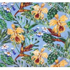 Viscose Floral Orquídea Sapatinho