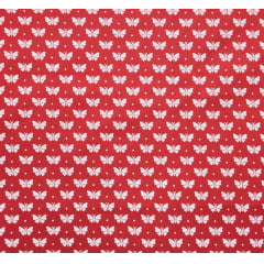 Tricoline Mini Borboleta Vermelho