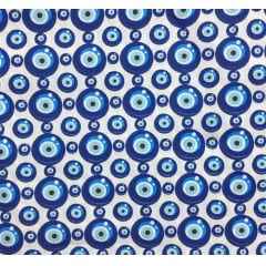 Tricoline Olho Grego Branco Marinho