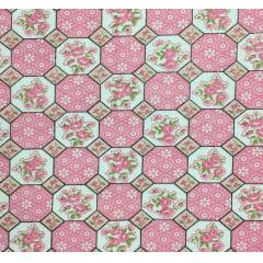Tricoline Mista Geometrico Flores