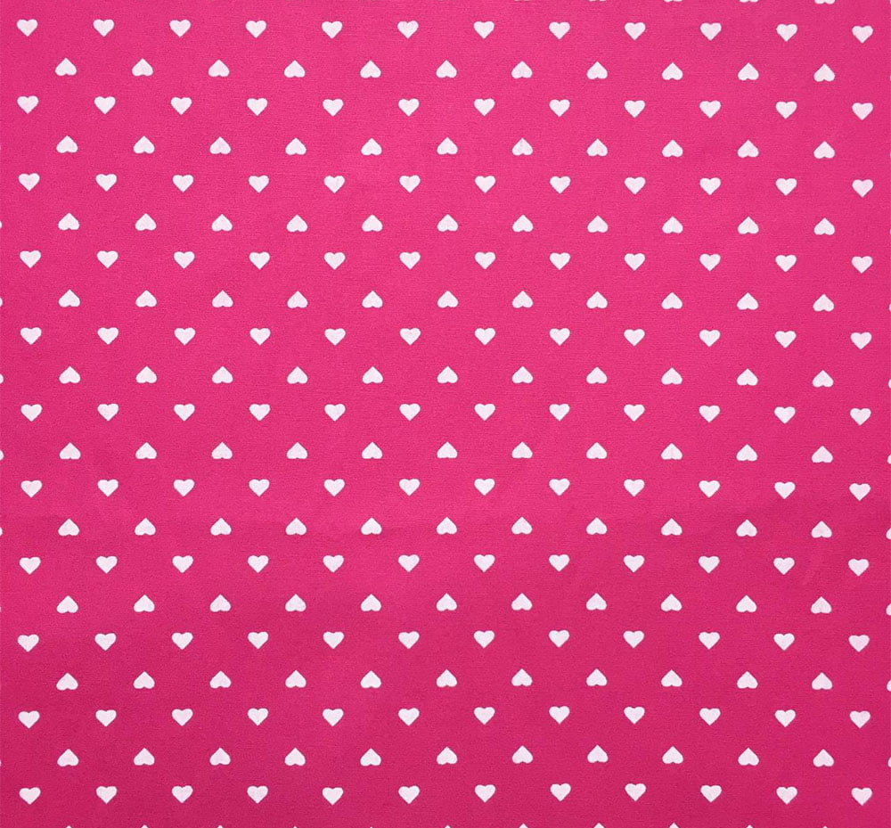 Tricoline Mini Coração Pink