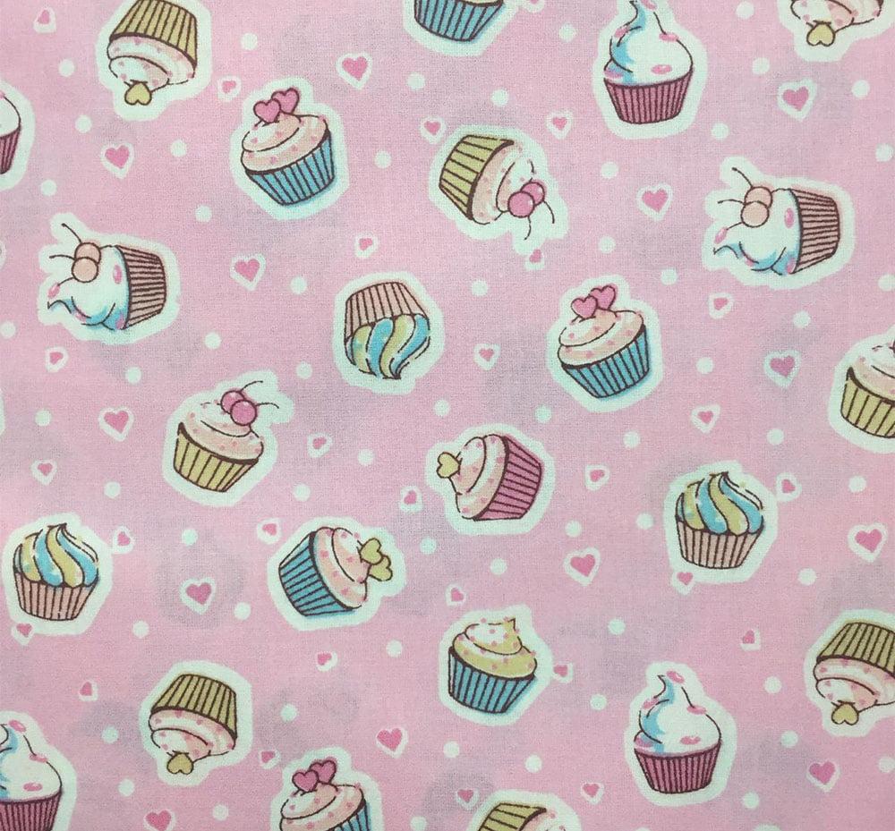 Tricoline Cupcake Rosa