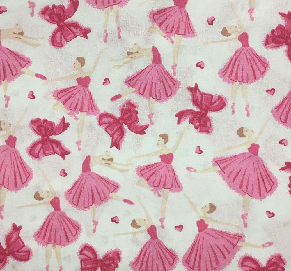 Tricoline Bailarina Laço Pink